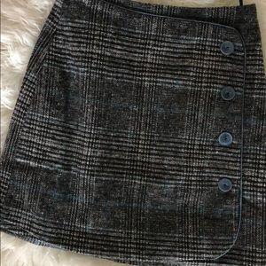 Blue and Black Plaid skirt